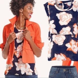 cAbi Style 5030 Floral Blossom Short Sleeve Top XS